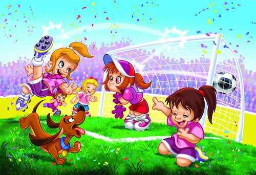 Go Girls Go! Soccer - 100pc Jigsaw Puzzle by Eurographics