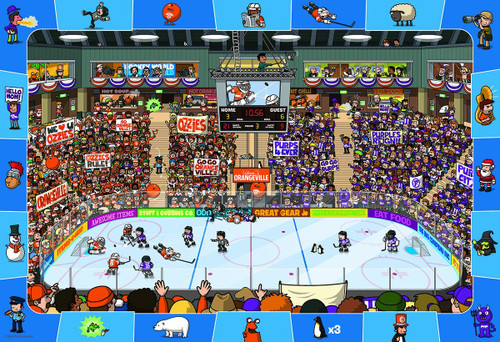 Spot & Find Hockey - 100pc Jigsaw Puzzle by Eurographics