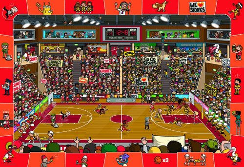 Spot & Find Basketball - 100pc Jigsaw Puzzle by Eurographics