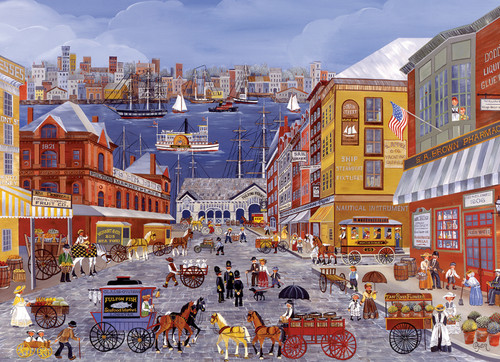 Dyer: Market Days on Fulton St. - 300pc Jigsaw Puzzle by Eurographics