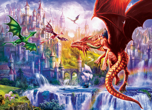 Dragon Kingdom - 500pc Jigsaw Puzzle by Eurographics