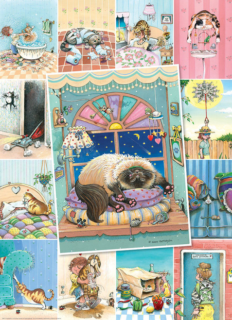 Patterson: Cat's Life - 500pc Jigsaw Puzzle by Eurographics