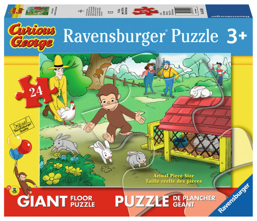Curious George Fun - 24pc Floor Jigsaw Puzzle By Ravensburger