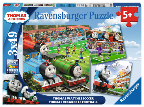 Thomas Watches Soccer - 3x49pc Jigsaw Puzzle By Ravensburger