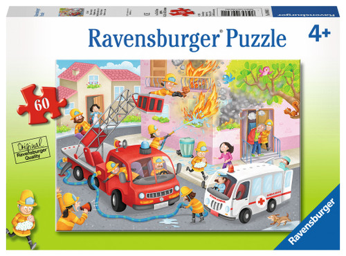 Firefighter Rescue! - 60pc Jigsaw Puzzle By Ravensburger