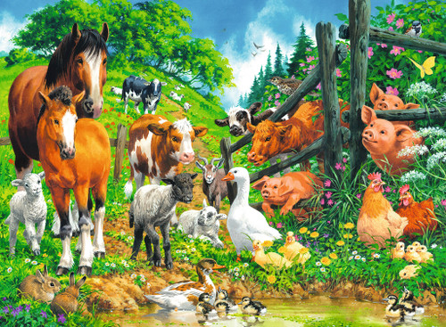 Animals Get Together - 100pc Jigsaw Puzzle By Ravensburger