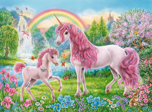 Magical Unicorns - 100pc Jigsaw Puzzle w/ Coloring Book By Ravensburger