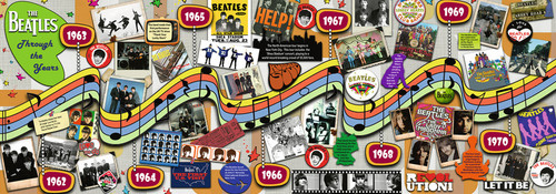 Beatles through the Years - 1000pc Panoramic Jigsaw Puzzle By Ravensburger