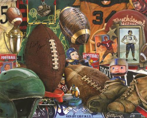 Vintage Football - 1000pc Jigsaw Puzzle By Springbok