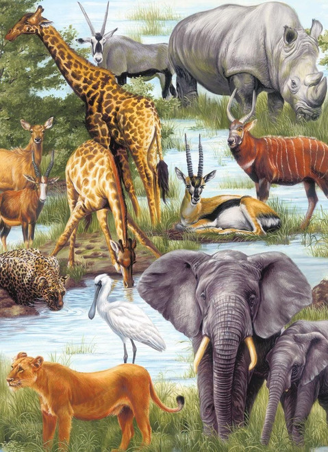Animal Kingdom - 60pc Jigsaw Puzzle by Springbok