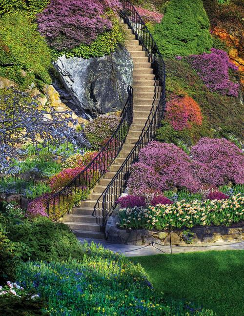 Garden Stairway - 350pc Jigsaw Puzzle By Springbok