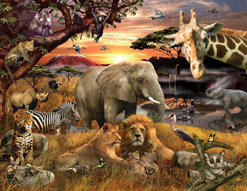 Wild Savanna - 400pc Jigsaw Puzzle by Springbok