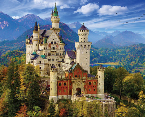 Neuschwanstein Castle - 1000pc Jigsaw Puzzle By White Mountain