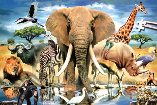 Jigsaw Puzzles - African Oasis