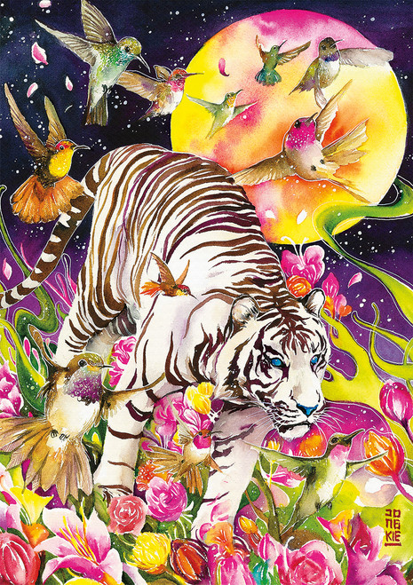 Art of Play: Tiger Moon - 500pc Jigsaw Puzzle by Buffalo Games