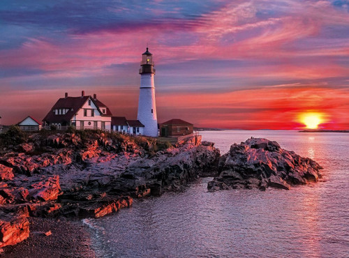 Portland Head Lighthosue - 500pc Jigsaw Puzzle by Clementoni