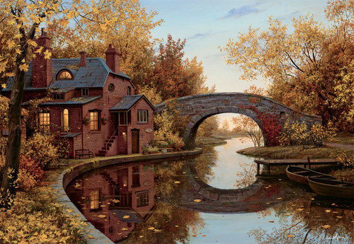 House by the River - 1000pc Jigsaw Puzzle by Lang