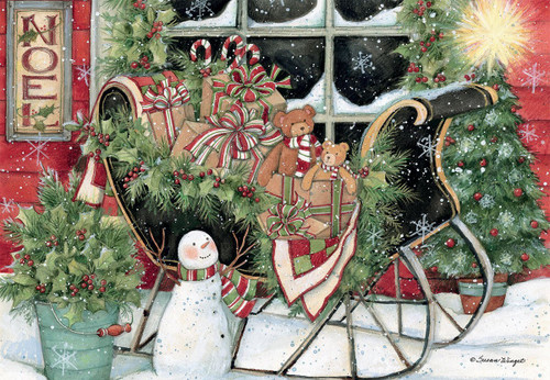 Santa's Sleigh - 1000pc Jigsaw Puzzle by Lang