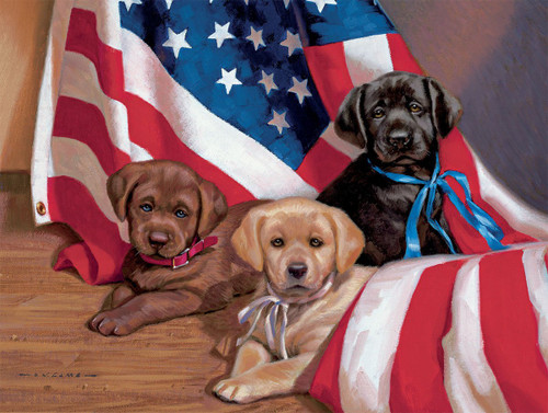 American Puppy - 500pc Jigsaw Puzzle by Lang