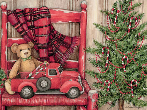 Bear in Chair - 500pc Jigsaw Puzzle by Lang