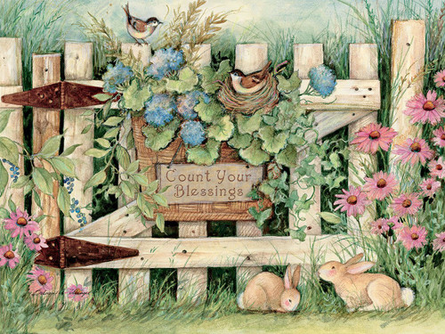 Garden Gate - 500pc Jigsaw Puzzle by Lang
