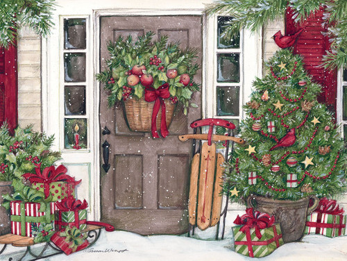 Holiday Door - 500pc Jigsaw Puzzle by Lang