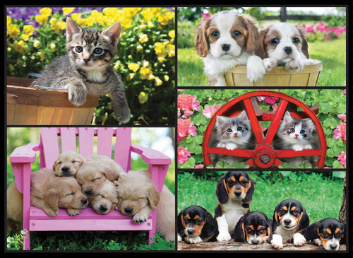 Kodak: Kittens & Puppies - 550pc Jigsaw Puzzle by Lafayette Puzzle Factory