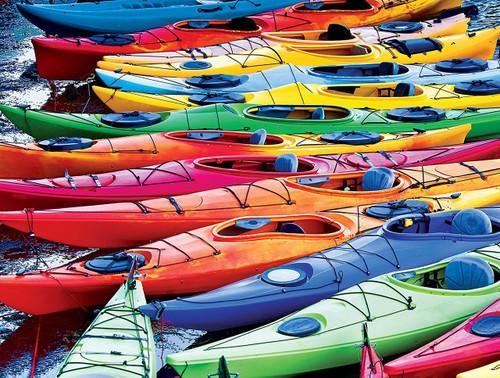 Kodak: Colorful Kayaks - 550pc Jigsaw Puzzle by Lafayette Puzzle Factory