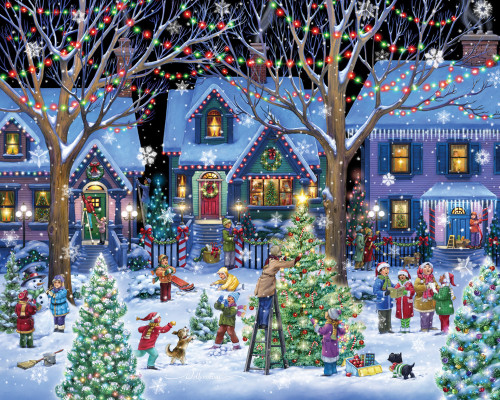 Christmas Cheer - 1000pc Jigsaw Puzzle by Vermont Christmas Company