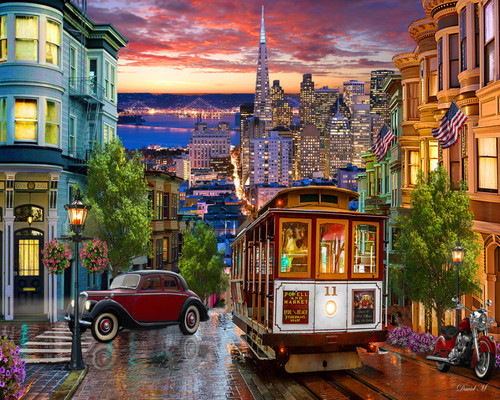 San Francisco Trolley - 1000pc Jigsaw Puzzle by Vermont Christmas Company