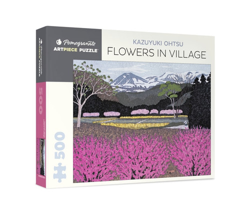 Ohtsu: Flowers in Village - 500pc Jigsaw Puzzle by Pomegranate