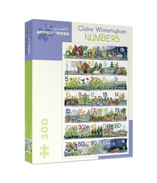 Winteringham: Numbers - 300pc Jigsaw Puzzle by Pomegranate