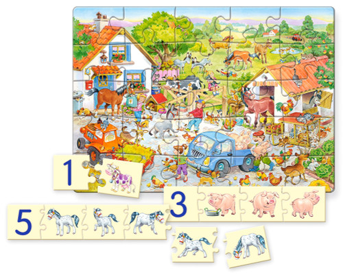 Counting on the Farm - 25pc Jigsaw Puzzle By Castorland