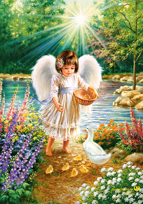 An Angel's Warmth - 500pc Jigsaw Puzzle by Castorland