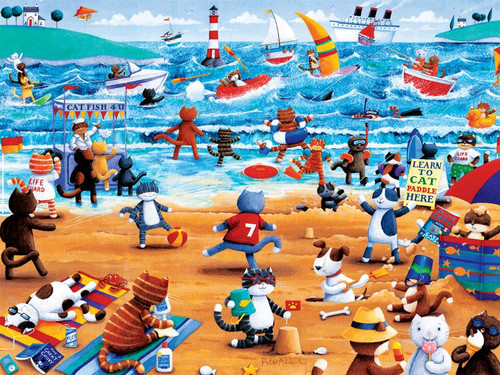 Ceaco Beach Cats Oversized Jigsaw Puzzle
