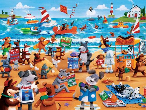 Ceaco Dogs Beach Oversized Jigsaw Puzzle