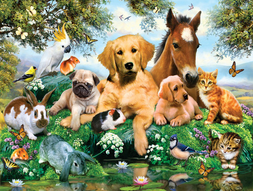 Summer Pals - 500pc Jigsaw Puzzle by Sunsout
