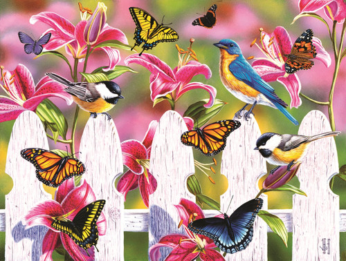 Summer Gathering - 300pc Large Format Jigsaw Puzzle by Sunsout