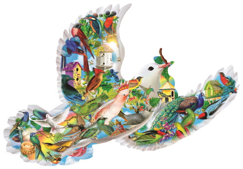 Feathered Friends - 1000pc Shape Jigsaw Puzzle by SunsOut