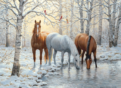 Winter Trio - 1000pc Jigsaw Puzzle by Cobble Hill