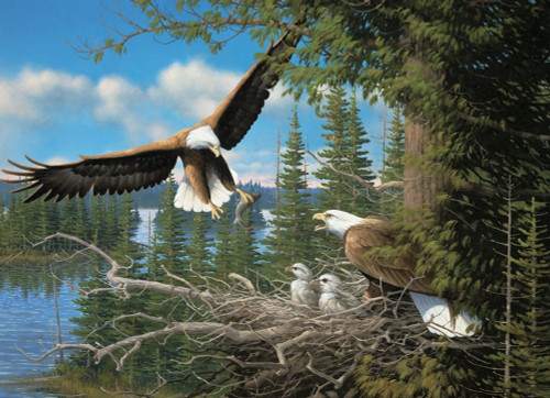 Nesting Eagles - 1000pc Jigsaw Puzzle By Cobble Hill