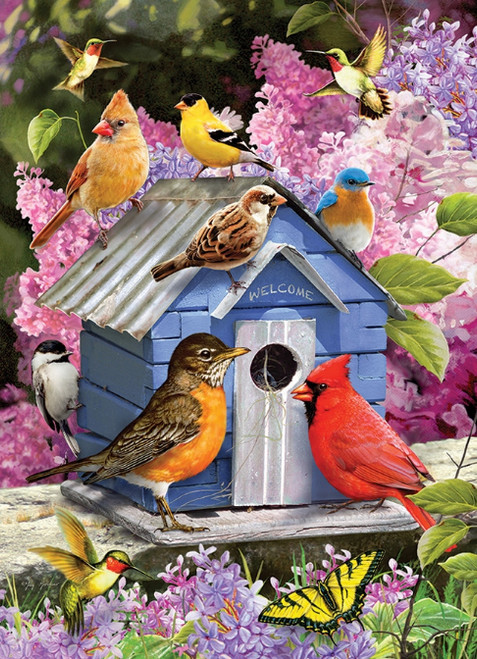 Spring Birdhouse - 1000pc Jigsaw Puzzle By Cobble Hill