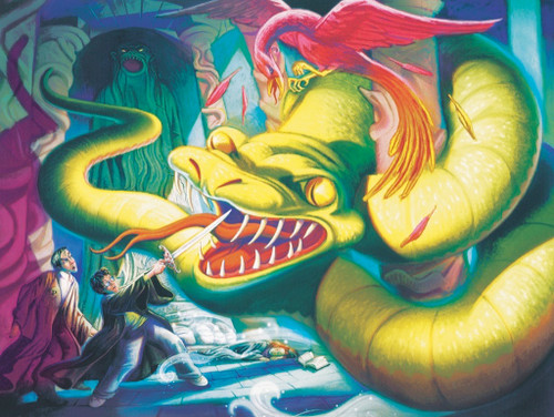 Defeating the Basilisk - 500pc Jigsaw Puzzle by New York Puzzle Company (discon-28779)