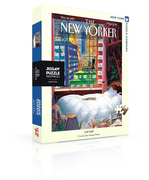 Cat Nap - 1000pc Jigsaw Puzzle by New York Puzzle Company