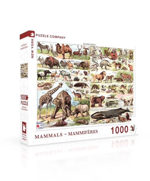 Mammals ~ Mammifères - 1000pc Jigsaw Puzzle by New York Puzzle Company (discon-28806)