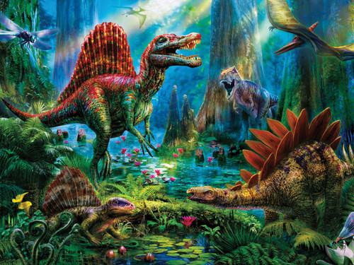 Ceaco Prehistoria Spinosaur Oversized Jigsaw Puzzle