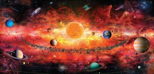 The Solar System Puzzle - 500pc Jigsaw Puzzle by A Broader View