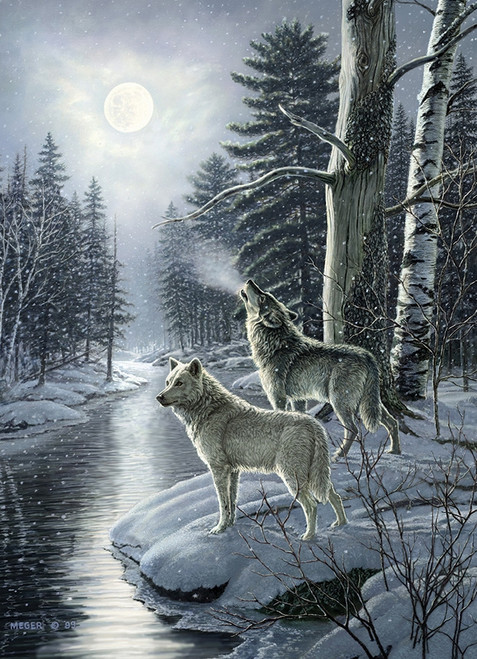 Wolves by Moonlight - 1000pc Jigsaw Puzzle by Cobble Hill