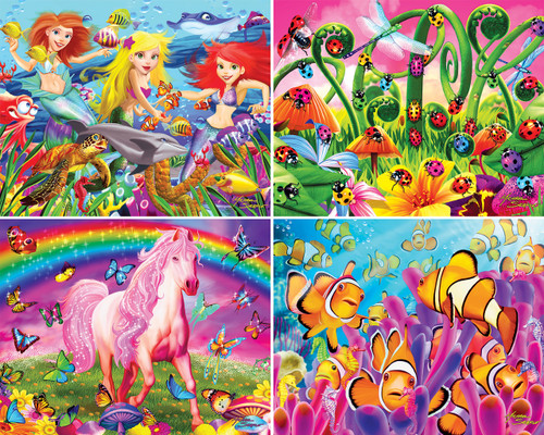 Glow In The Dark - 100pc 4-Pack Jigsaw Puzzle by Masterpieces