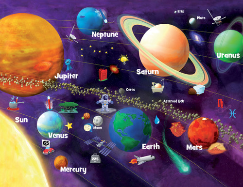 Solar System Glow - 60pc Educational Jigsaw Puzzle by Masterpieces